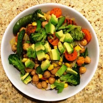 Warzywa z cieciorką