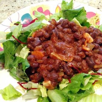 Fasola andzuka z pomidorami