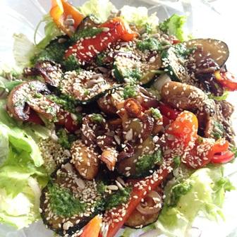 Grilowane warzywa z sezamem