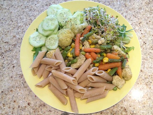 Kurczak i dużo warzyw