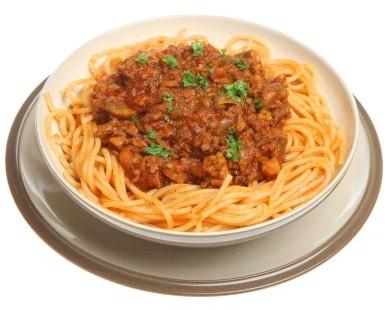 Spaghetti z wołowiną
